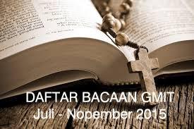Bahan Bacaan GMIT 2015 – Juli – Nopember 2015