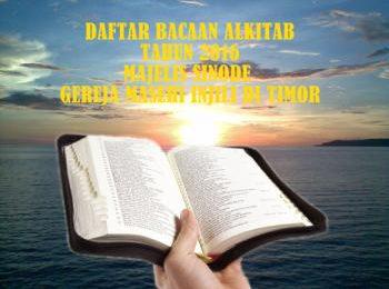 Daftar Bacaan Alkitab Juli – Nopember 2016 – UPP Teologi MS GMIT