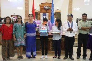 Suasana setelah ibadah pada Dies Natalis ke-68 GMKI Cabang Kupang. Ibadah dipimpin oleh Pdt. Nicolas Lumba Kaana, M.Th.