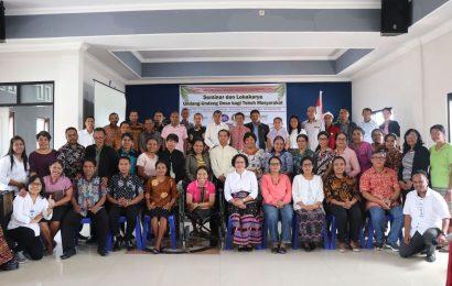 50 Pendeta GMIT Ikut Seminar dan Lokakarya UU Desa