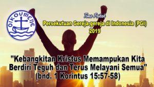 Tema Paskah PGI 2019