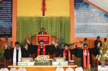 Jemaat Noekaesmuti Klasis Amarasi Barat – Pentahbisan gedung kebaktian