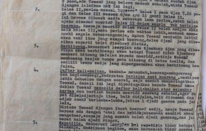 LAPORAN INSPEKSI O. HASSELHOFF DI SEKOLAH-SEKOLAH ZENDING TAHUN 1936