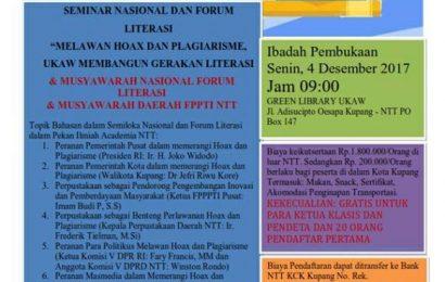 Pekan Ilmiah ACADEMIA UKAW – Seminar Nasional & Forum Literasi
