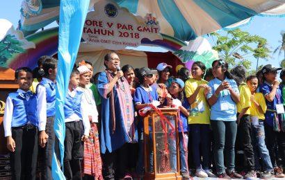 Peserta Jambore PAR V Sinode GMIT 'Menyerbu' Menteri Yohana Yembise
