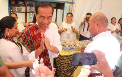 Presiden Jokowi Kunjungi Jemaat GMIT Benyamin Oebufu