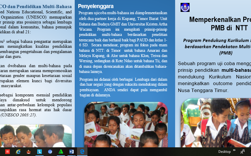 Program Pendekatan Multi Bahasa di NTT