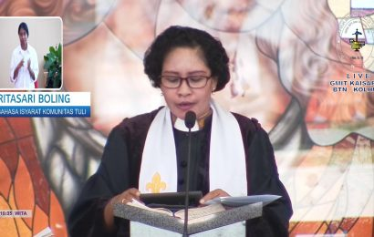 Ibadah Paskah Bagi Komunitas Tuli di GMIT