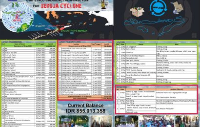 Receipts Of Cash Donations and Disbursements, Synode Emergency Response Team#4   – 26 April 2021